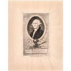 (1798) Federal Period Engraving of President George Washington by Lawson, Sc