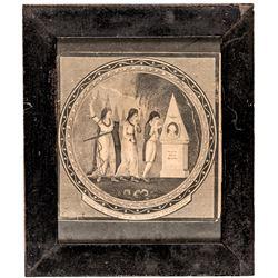 (1801) 1st State: Sacred to the Memory of the Illustrious G. Washington. Boston