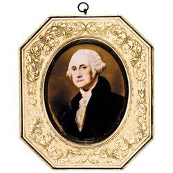 c. 1800-1820 George Washington Portrait Hand-Painted Miniature