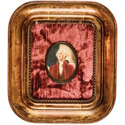 c. 1880s Quality Miniature Watercolor Portrait of President George Washington