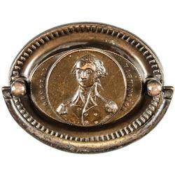 c. 1820s Pair of George Washington Antique Brass Drawer Pulls