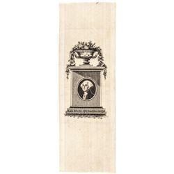 c. 1832 George Washingtons Birth Commemorative Silk Ribbon, Sullivan GW-16
