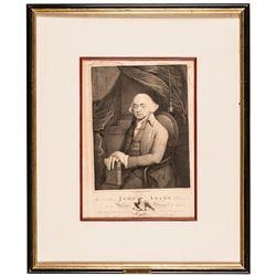 c. 1797 American Engraving of President John Adams, Engraved by H. Houston,