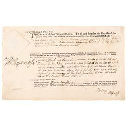 1788 South Carolina Document Signed THOMAS HEYWARD + CHARLES COTESWORTH PINCKNEY