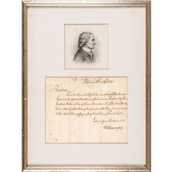 1790 CHARLES THOMSON U.S. Treasury Loan Office Related Autograph Letter Signed