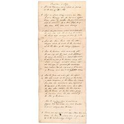 (COL. WILLIAM AUGUSTINE WASHINGTON) Three Federal Period Documents