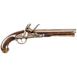 War of 1812 Era U.S. Navy Model 1808 Contract Flintlock, S. North, Ships Pistol