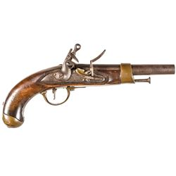 1812-Dated War of 1812 French Military Model: AN XIII Flintlock Service Pistol