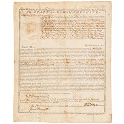 1785 MESHECH WEARE Signed Document as President of New Hampshire