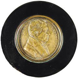 c. 1824 Commemorative MARQUIS DE LAFAYETTE Central Brass Portrait Snuff Box