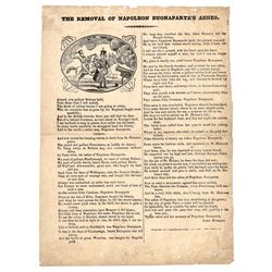 May 1840, Broadside Poem: The Removal of Napoleon Buonapartes Ashes