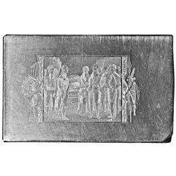 c. 1860-70 Hand-Engraved Steel Printing Plate Depicting 1777 Battle of Saratoga