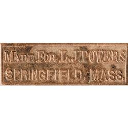 1860s Civil War Era Soldier's Folding Leather Wallet, Belonging to L.J. Powers