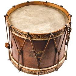 Civil War Era Federal Snare Drum with Its Original Pair of Sticks and Bandolier