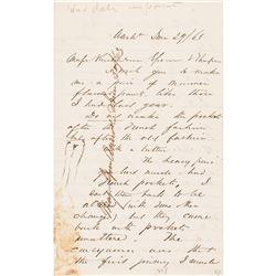 1863 Civil War General & Chief Engineer of the Army JOHN GROSS BARNARD ALS