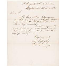 1861 Civil War Union General JAMES SCOTT NEGLEY Autograph Letter Signed