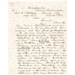 1862 Civil War Date GEORGE MAXWELL ROBESON Military Autograph Letter Signed