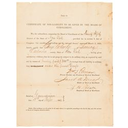 1863 Civil War Union $300 Being Paid for a Draft Exemption Certificate