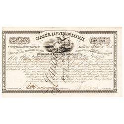 New York Civil War $12,000 Bounty 1866-Dated