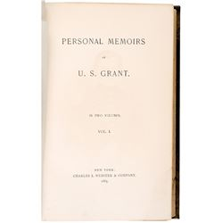 1885 & 1886, Hardcover First Edition Book Set: Personal Memoirs of U.S. Grant