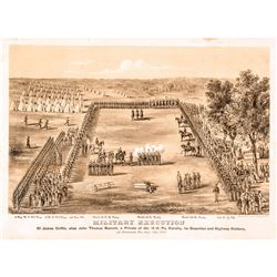 September 17, 1863-Dated Civil War Period Print titled: MILITARY EXECUTION