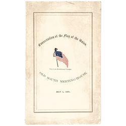 Civil War Date Printed Booklet Consecration of  the Flag of the Union