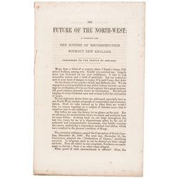 1863 Pamphlet by the Loyal Publication Society, THE FUTURE OF THE NORTH-WEST
