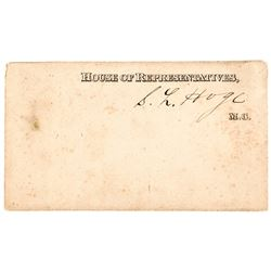 Congressional Gallery Admission Card Set, Counting the Vote for President & VP!