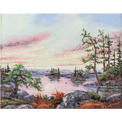 Canadian Oil on Board Landscape Framed