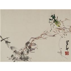 Zhao Shaoang 1905-1998 Chinese Watercolor on Paper
