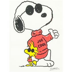 Charles Schulz US Pop Art Mixed Media on Paper