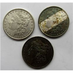 3-MORGAN SILVER DOLLARS 1881, '82, & '83