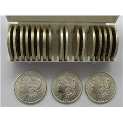 ROLL OF (20) BU MORGAN SILVER DOLLARS