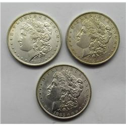 3-1883-O MORGAN SILVER DOLLARS