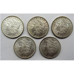 5-1885-O MORGAN SILVER DOLLARS