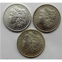 3-1884-O MORGAN SILVER DOLLARS