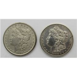 2-MORGAN SILVER DOLLAR 1881-S, '82-S