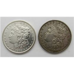 2-MORGAN SILVER DOLLARS:  1902 & 1903
