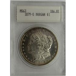 1879-S MORGAN SILVER DOLLAR BLANCHARD MS 63