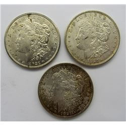 3-1921 PDS SILVER MORGAN DOLLARS