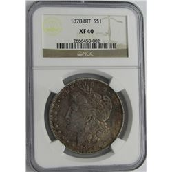 1878 8TF MORGAN SILVER DOLLAR NGC XF 40