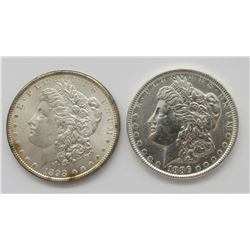 1886 UNC & 1898 BU MORGAN DOLLARS