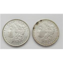 2-1884-O MORGAN DOLLARS NICE BU'S