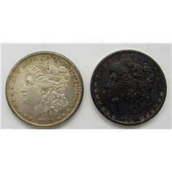 2-1881-S MORGAN DOLLAR AU/UNC