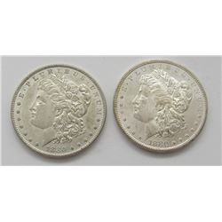 1880-S & 1880-O BU MORGAN DOLLARS