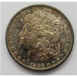 1896 UNC RAINBOW MORGAN DOLLAR