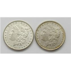 2- BU MORGAN DOLLARS:  1880-O & 1885