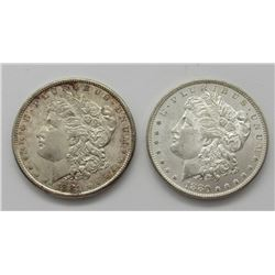 1881-S & 1880-S MORGAN DOLLARS