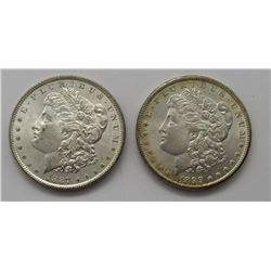 1887 & 1899-O MORGAN DOLLARS BU/UNC