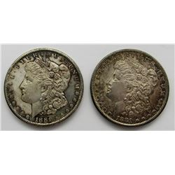 2-1881-S TONED MORGAN DOLLARS